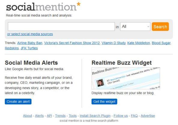 Social Mention Monitoring Tool
